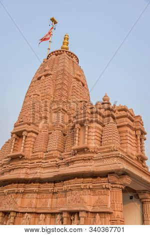 Shikhara Of Baps Shree Swaminarayan Temple In Diamond Harbour Rd, Kolkata, West Bengal, India