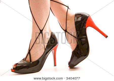 Black Fetish High Heel Shoes