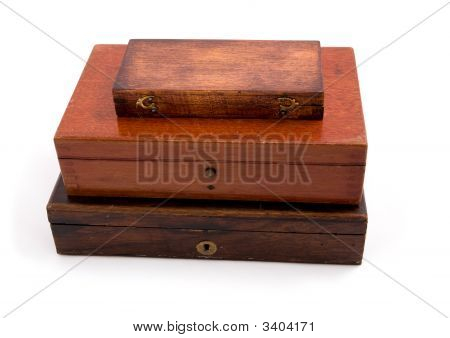 Wood Box Isolated