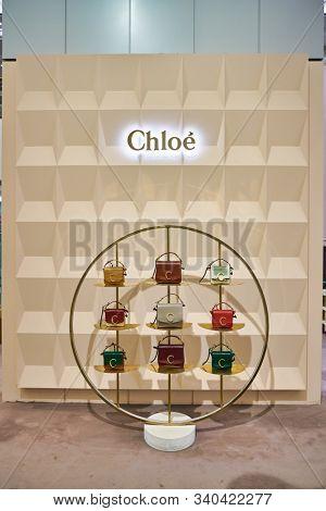 BERLIN, GERMANY - CIRCA SEPTEMBER, 2019: Chloe bags on display at the Kaufhaus des Westens (KaDeWe) department store in Berlin.