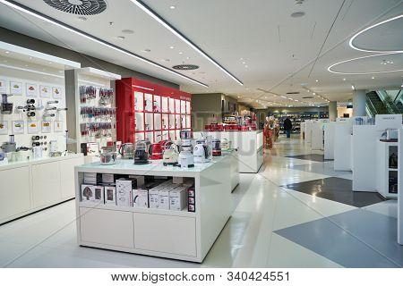 BERLIN, GERMANY - CIRCA SEPTEMBER, 2019: interior shot of the Kaufhaus des Westens (KaDeWe) department store in Berlin.