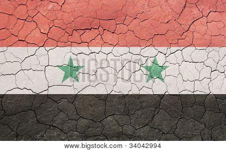 Cracking Syrian Flag
