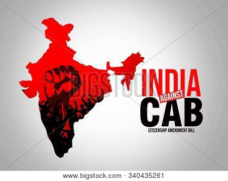 Protest Against The Citizenship Amendment Bill, Cab And Nrc, Poster Design Illustration Isolated On