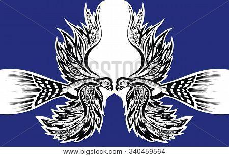 Phoenix Bird Tattoo. Bird Phoenix Flying For Your Design
