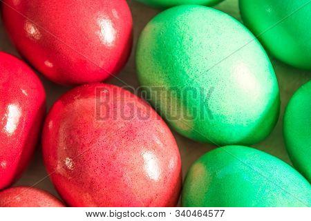An Easter Eggs Closeup As A Background
