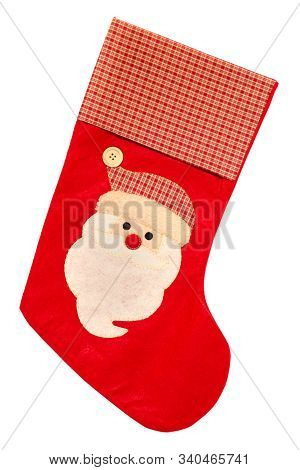 Christmas Sock Isolated On A White Background