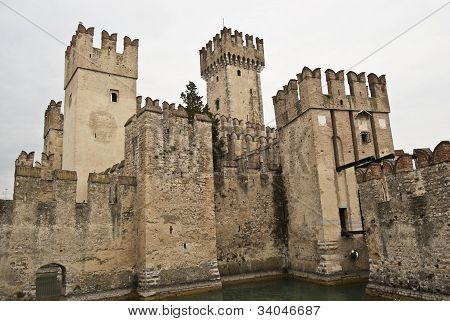Scaliger Castle in Sirmione Italy