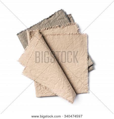 Single Folded Rustic Linen Napkins