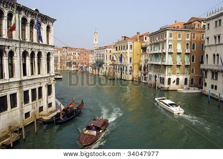 boats and facades in Venice