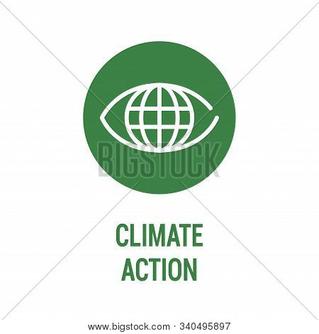 Climate Action Color Icon. Corporate Social Responsibility. Sustainable Development Goals. Sdg Sign.