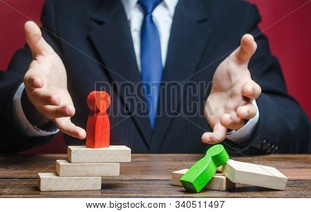 Businessman Is Very Surprised By Defeat. Loss, Failure And Fatal Error. Mistake Handling. Weakness I