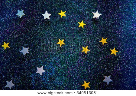 Milky Way And Stars On The Sky Creative. Night Sky With Stars As A Abstract Background . Creative Na