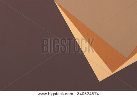 Abstract Geometric Paper Background In Earth Tone. Many Earth Tones Originate From Clay Earth Pigmen