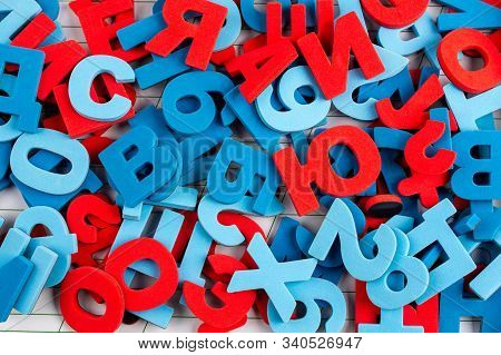Alphabet Background Of Colorful Letters And Numbers