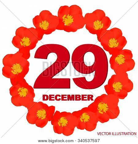December 29 Icon. For Planning Important Day. Banner For Holidays And Special Days. Twenty-ninth Of