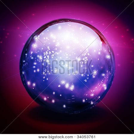 Crystal Ball with lights