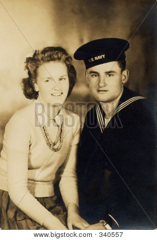 Navy Sailor And Girl