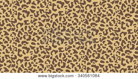 Leopard Or Jaguar Print Seamless Pattern, Textured Fashion Print, Abstract Safari Background For Fab