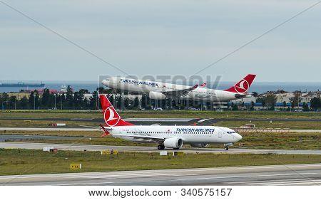 Passenger Airplane At Istanbul Airport
