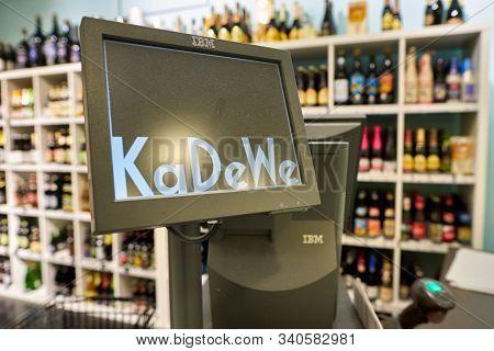 BERLIN, GERMANY - CIRCA SEPTEMBER, 2019: cash register at the Kaufhaus des Westens (KaDeWe) department store in Berlin.