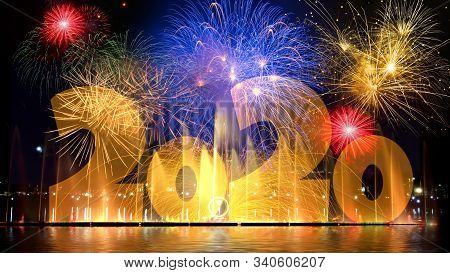 New Year Illustrated Design For 2020,l Ets Celebrate