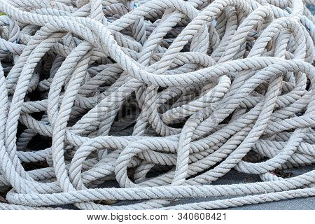 Anchor Rope On The Ground