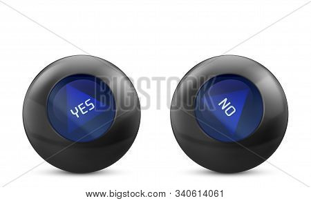 Magic Ball Of Predictions For Decision-making With Yes And No Answer. Forecast Oracle For Questions.
