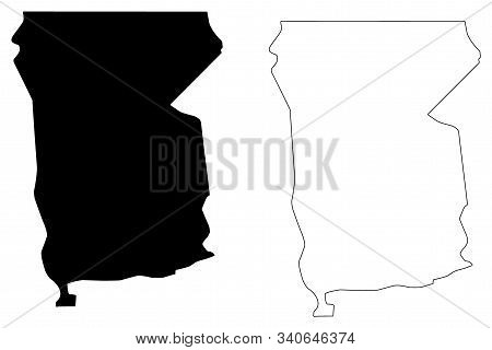 Omusati Region (regions Of Namibia, Republic Of Namibia) Map Vector Illustration, Scribble Sketch Om