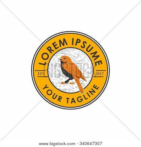 Canary Vector Logo Element. Bird Design Logo. Canary Vector Illustration. Bird Emblem Logo. Canary I