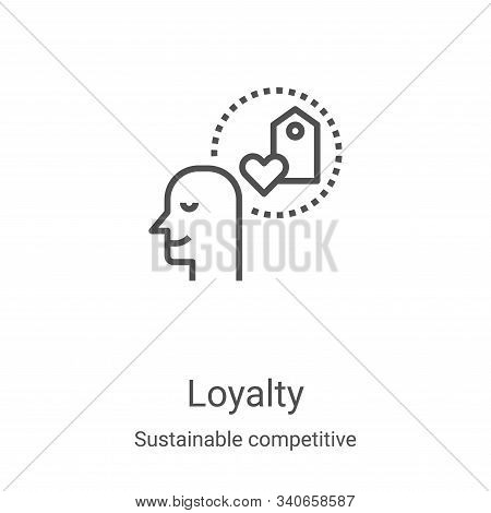 loyalty icon isolated on white background from sustainable competitive advantage collection. loyalty