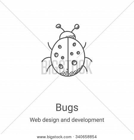 bugs icon isolated on white background from web design and development collection. bugs icon trendy