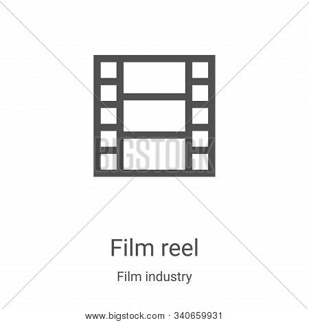 film reel icon isolated on white background from film industry collection. film reel icon trendy and