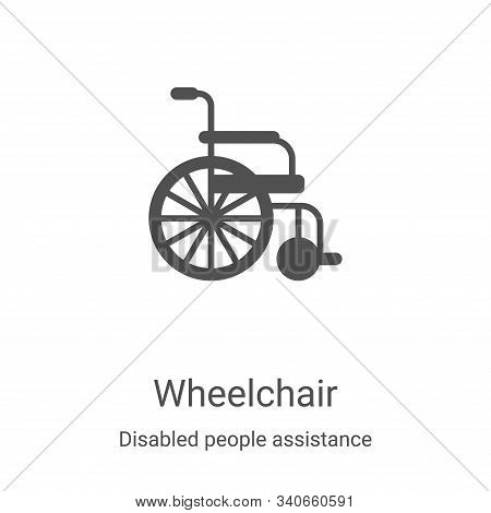 wheelchair icon isolated on white background from disabled people assistance collection. wheelchair