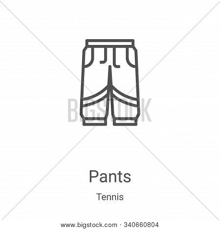 pants icon isolated on white background from tennis collection. pants icon trendy and modern pants s
