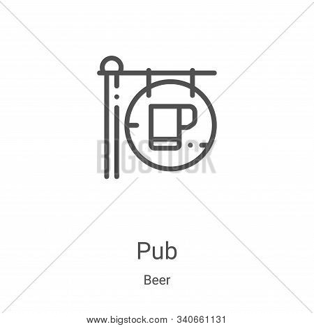 pub icon isolated on white background from beer collection. pub icon trendy and modern pub symbol fo