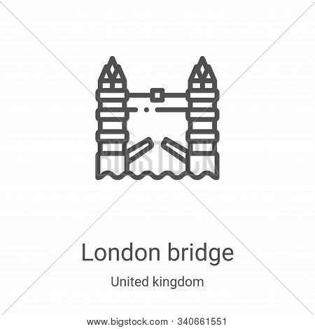 london bridge icon isolated on white background from united kingdom collection. london bridge icon t