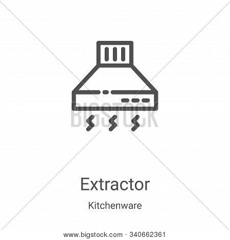 extractor icon isolated on white background from kitchenware collection. extractor icon trendy and m