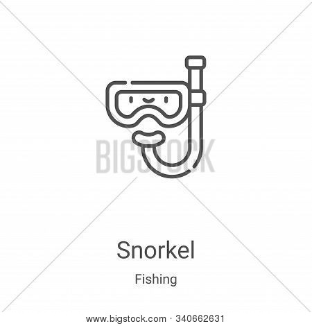 snorkel icon isolated on white background from fishing collection. snorkel icon trendy and modern sn