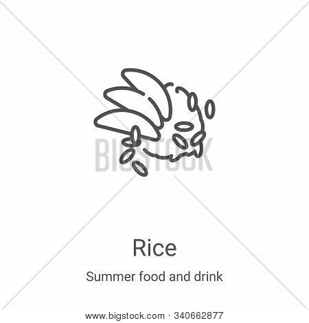 rice icon isolated on white background from summer food and drink collection. rice icon trendy and m