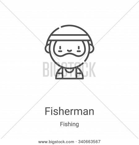 fisherman icon isolated on white background from fishing collection. fisherman icon trendy and moder
