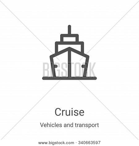 cruise icon isolated on white background from vehicles and transport collection. cruise icon trendy
