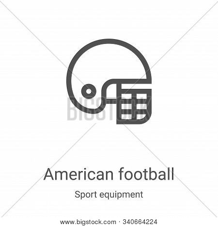 american football icon isolated on white background from sport equipment collection. american footba
