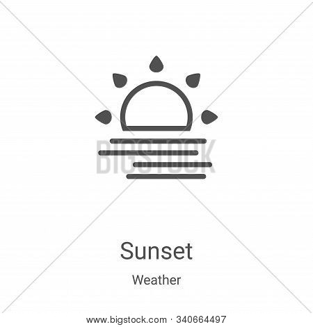 sunset icon isolated on white background from weather collection. sunset icon trendy and modern suns