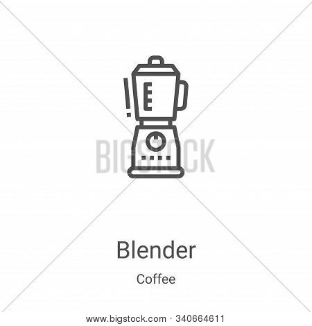 blender icon isolated on white background from coffee collection. blender icon trendy and modern ble