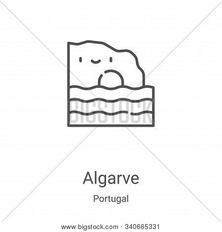 algarve icon isolated on white background from portugal collection. algarve icon trendy and modern a