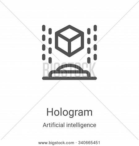 hologram icon isolated on white background from artificial intelligence collection. hologram icon tr