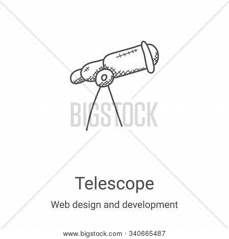 telescope icon isolated on white background from web design and development collection. telescope ic