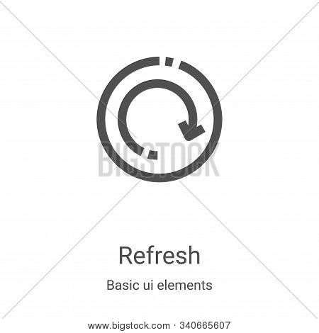 refresh icon isolated on white background from basic ui elements collection. refresh icon trendy and