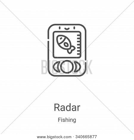 radar icon isolated on white background from fishing collection. radar icon trendy and modern radar