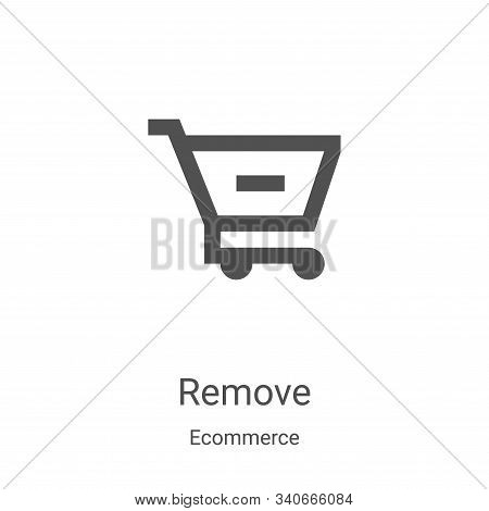 remove icon isolated on white background from ecommerce collection. remove icon trendy and modern re
